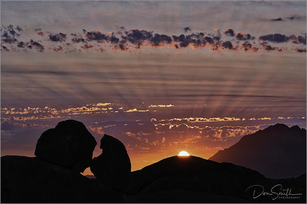 Skitzkoppe Sunset, Namibia, Africa