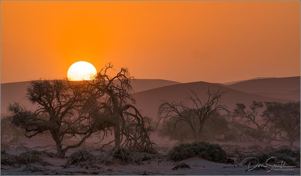 Sunset Over Namib Desert, Namibia