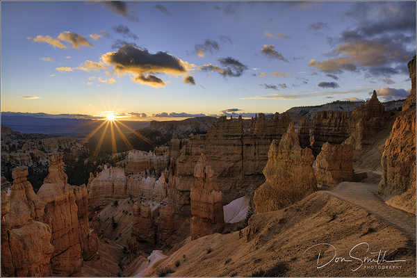 Sunrise Along Navajo Trail, Bryce Canyon, Utah