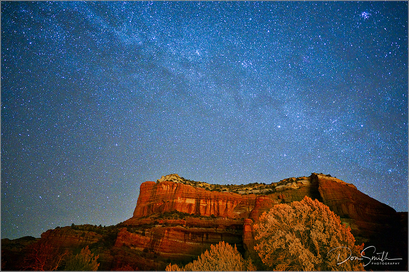 Red Rock and Dark Sky, Sedona, Arizona