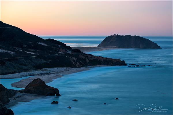 Dawn Along Big Sur Coast and Pt. Sur Lightstation