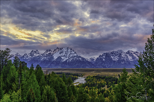 Stormy Evening, Snake River Overlook, Grand Teton
