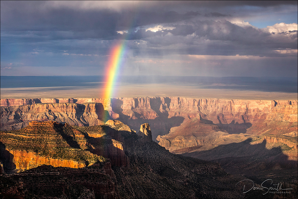 Rainbow Over Roosevelt Point, Grand Canyon