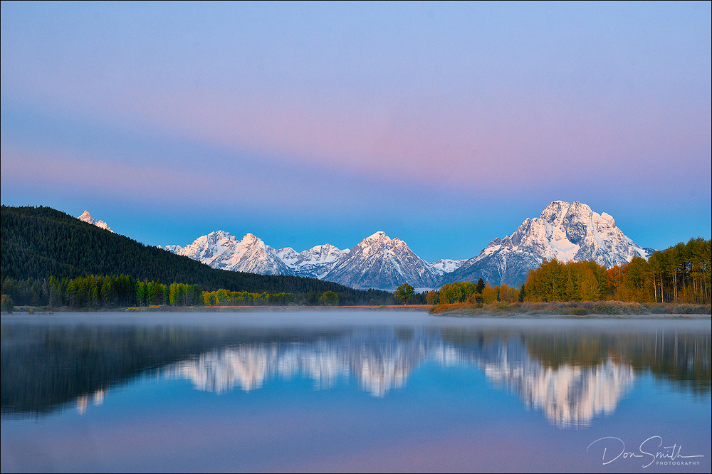 Dawn Hues, Oxbow Bend, Grand Teton National Park