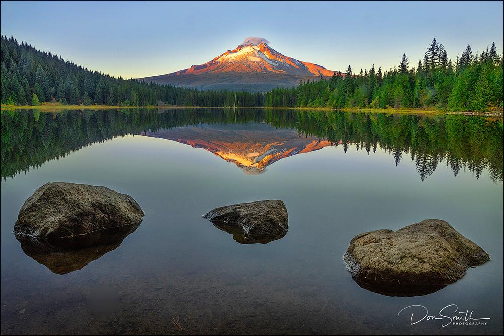 Sunrise on Mt. Hood from Trillium Lake
