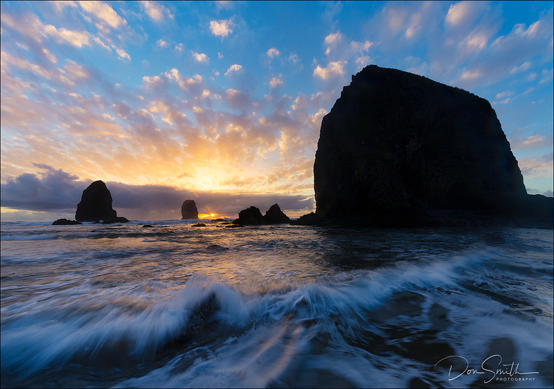 Canon Beach Winter Sunset, Oregon Coast