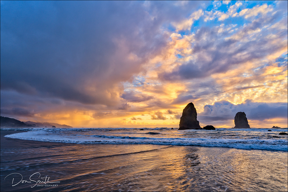 Cannon Beach Winter Sunset, Oregon