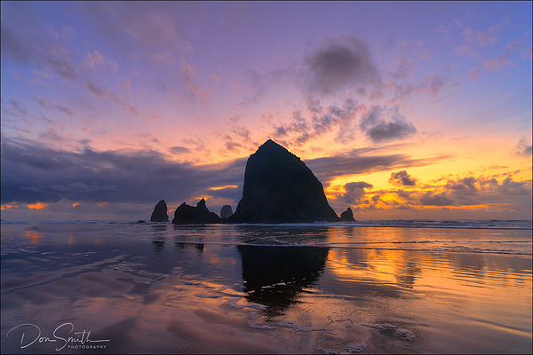 Haystack Rock Reflection, Cannon Beach, Oregon