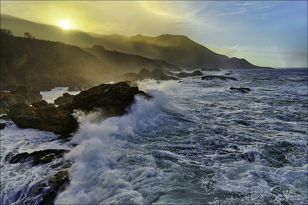 Big Waves Along Big Sur Coast