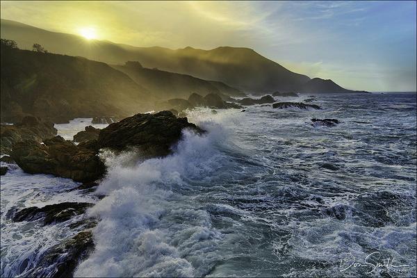 Big Waves Along Big Sur Coast