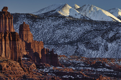 Fisher Towers and La Sal Mountains, Utah