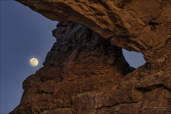 Rising Moon Through South Window, Arches NP