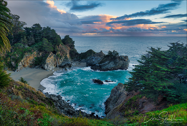 Sunset Clouds Over Julia Pfeiffer Burns State Park