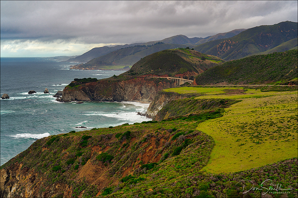 Stormy Sky Over Big Sur Coast