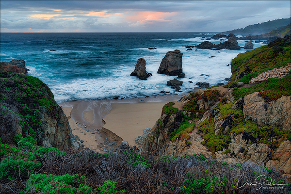 Dusk at Soberanes Cove, Big Sur Coast