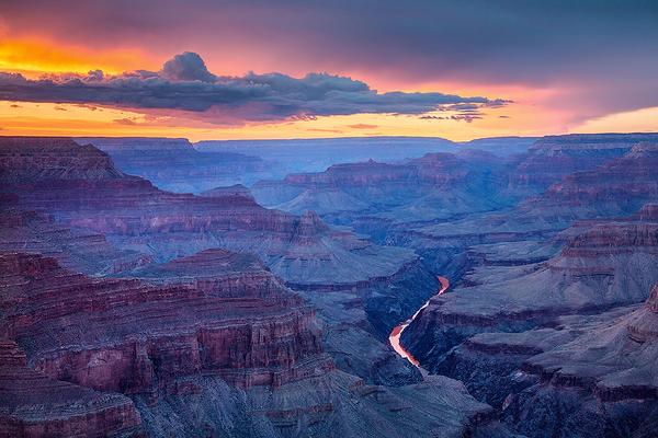 Pima Point Sunset, Grand Canyon National Park