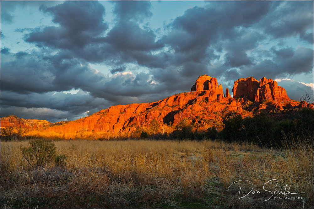Storm Clouds Over Cathedral Rocks, Sedona