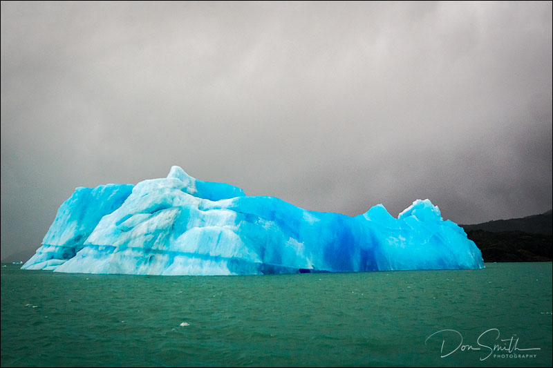 Blue Iceberg, Lake Argentino, Patagonia