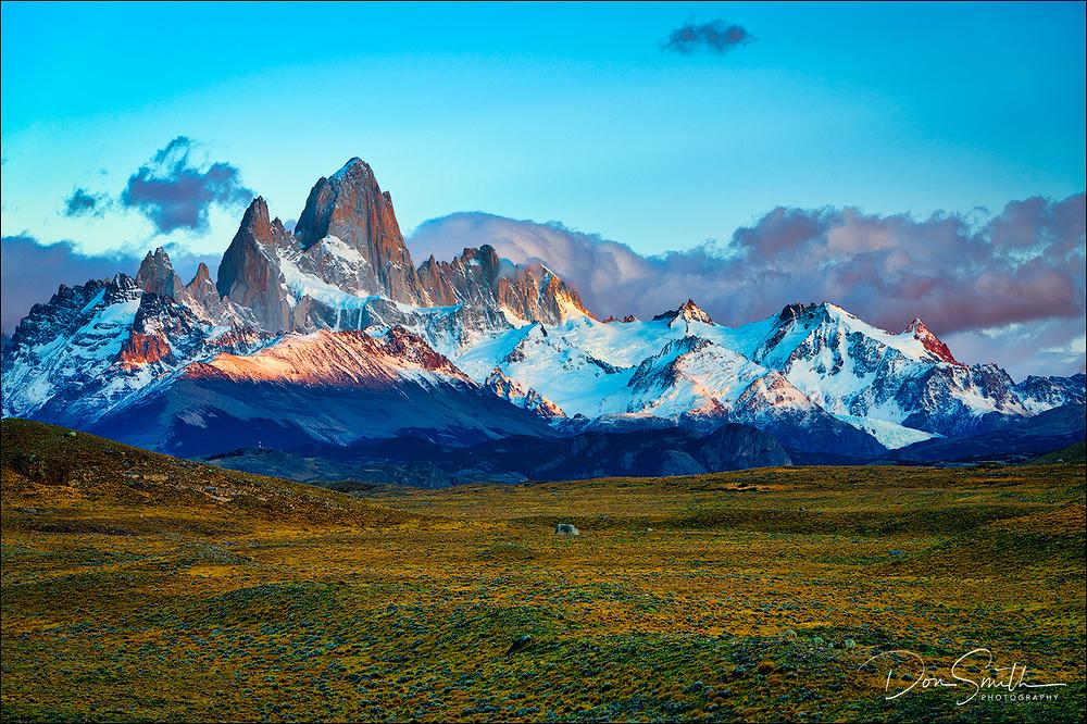 Dawn and Mt. Fitzroy Range, Patagonia