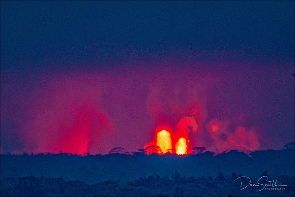 Kilauea Lava Fountains, Pahoa, Hawaii