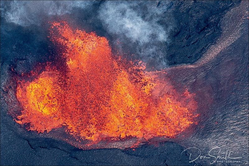 Looking Into the Heart of Fissure 8, Pahoa, Hawaii
