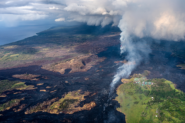 Kilauea Lava Destruction, Pahoa, Hawaii