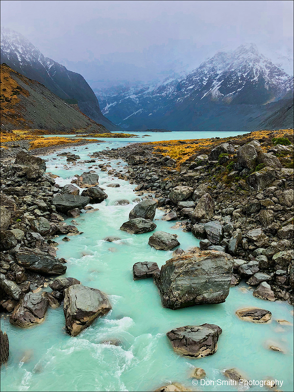 Galcial Melt, Mt. Cook National Park, New Zealand