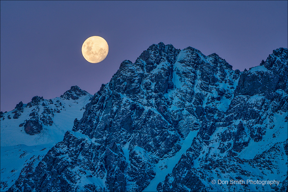 Moonrise, Mt. Cook National Park, New Zealand