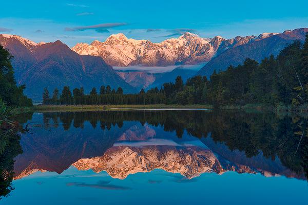 Mt. Tasman and Mt Cook Reflecition, Lake Matheson