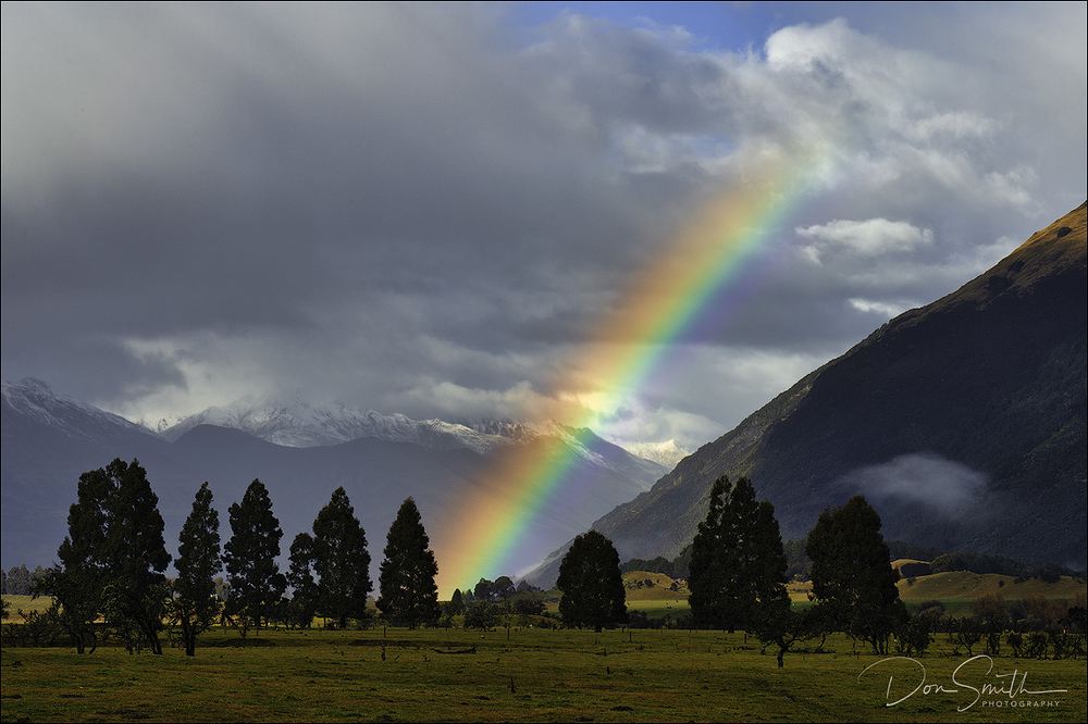 Rainbow Over Paradise, South Island, New Zealand