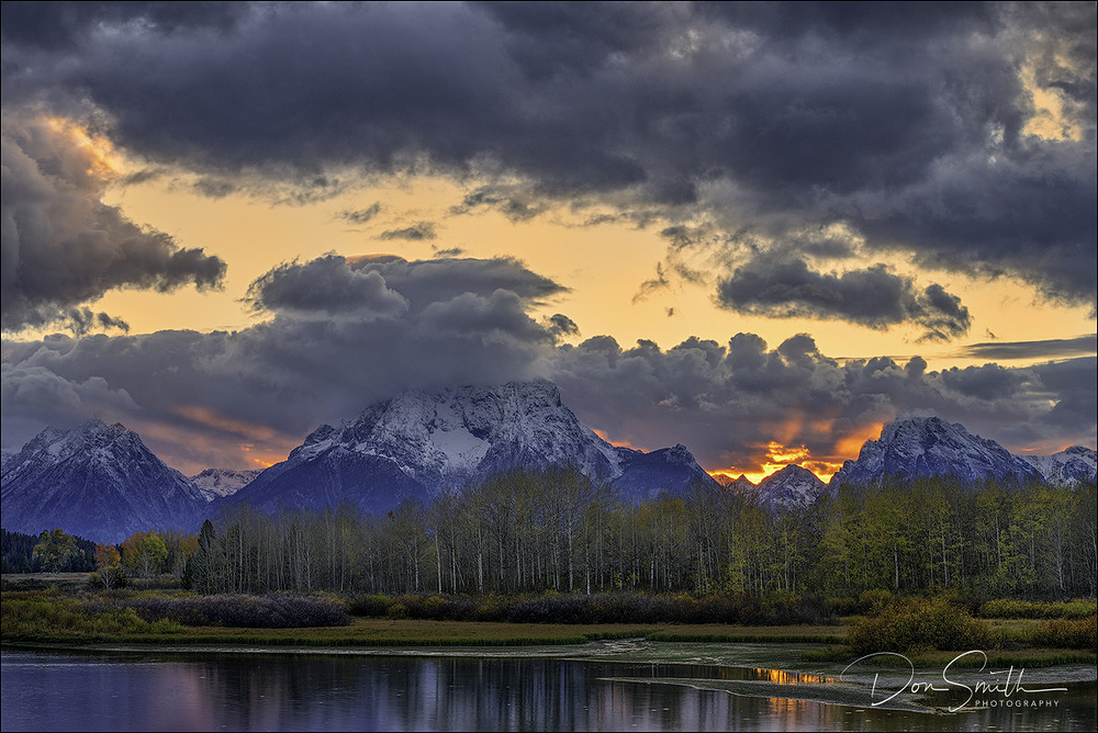 Sunset at Oxbow Bend, Grand Teton, NP