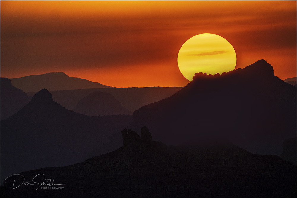 Sunset Over Grand Canyon