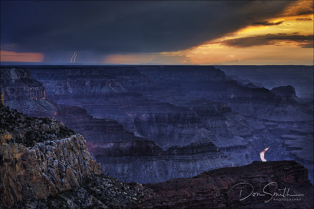 Dual Lighting and Colorado River, Grand Canyon