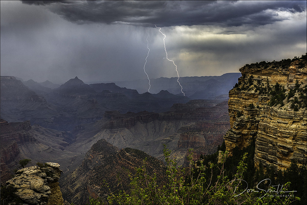 Lightning Strikes over Grand Canyon