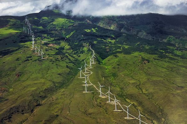 Maui Hillside and windmills