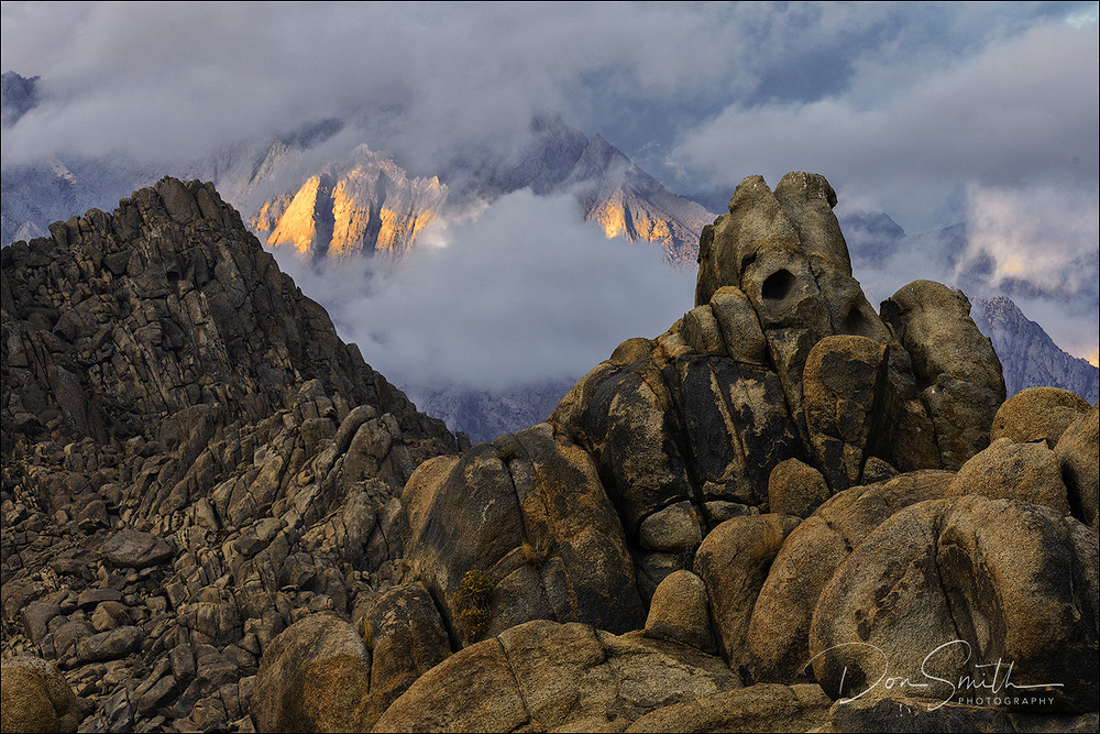 Sunrise in Alabama Hills, Lone Pine, California