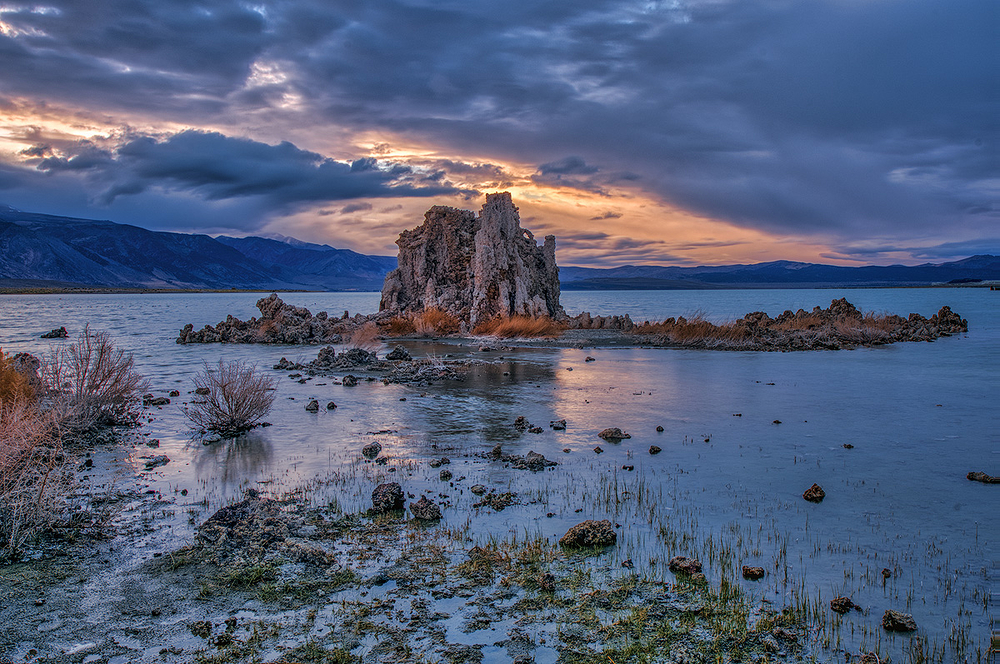 Stormy Sky Over Tufa Tower, Mono Lake, California