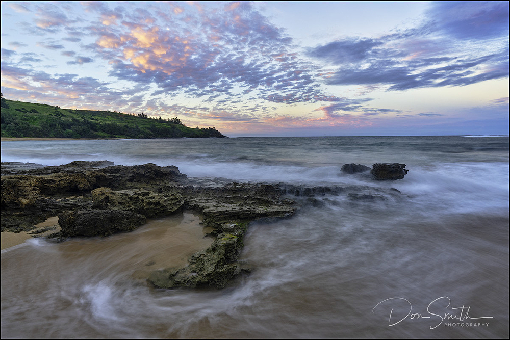 Moloa'a Beach Sunset, Kauai, Hawaii