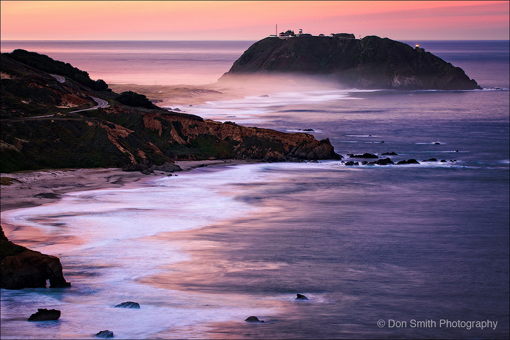 Dawn Light, Point Sur Lightstation, Big Sur
