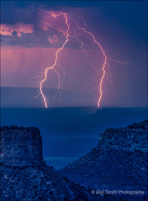 Double Lightning Strike, Grand Canyon North Rim