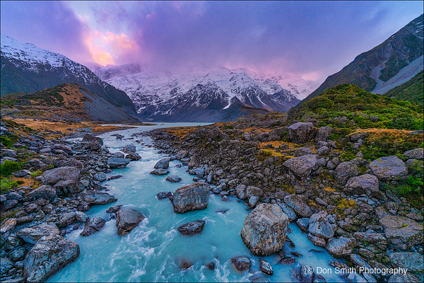 Mueller Lake, Mt. Cook NP, New Zealand