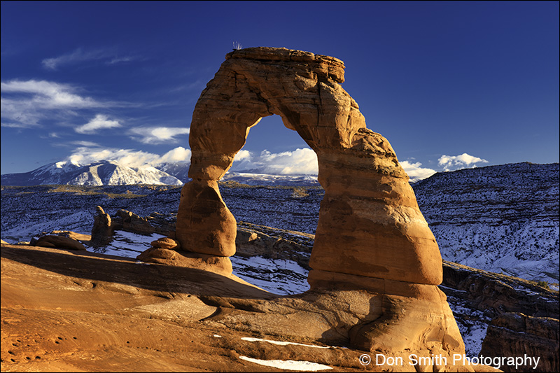 Delicate Arch and La Sal Mountains, Arches NP