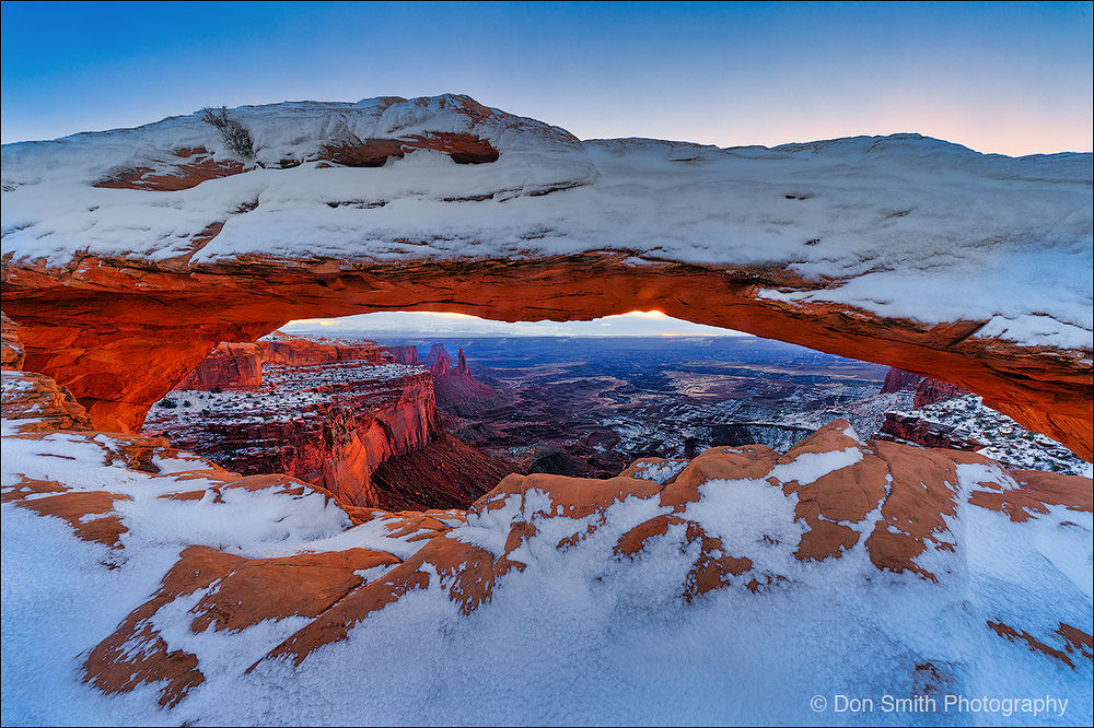Winter's Dawn at Mesa Arch, Canyonlands NP