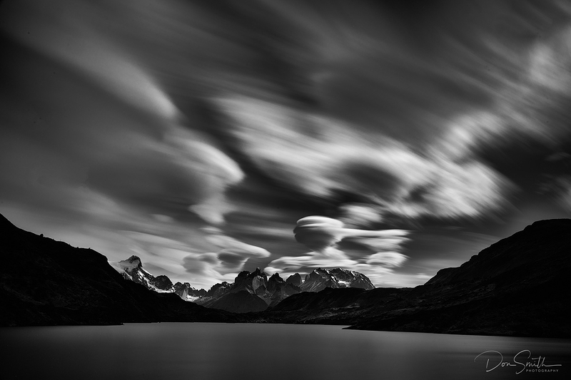Lenticulars and Lake Pehoe, Torres del Paine