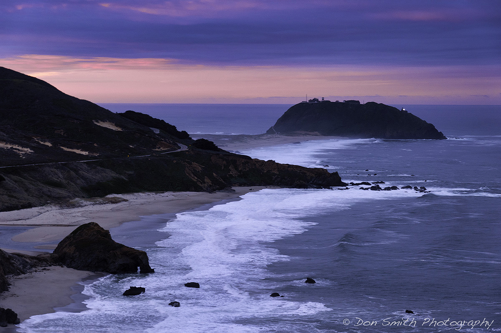 Dawn at Point Sur Lighthouse, Big Sur Coast