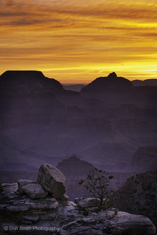 Dawn Sky Over Grand Canyon National Park
