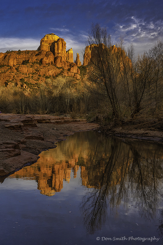 Cathedral Rocks Reflection, Oak Creek, Sedona