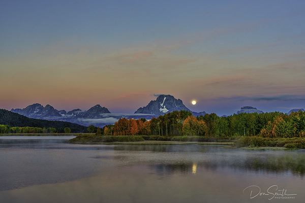 Moonset at Oxbow Bend :: Grand Teton Fall Workshop