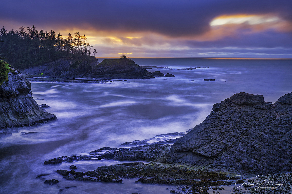 Cape Arago and Stormy Sunset, Oregon Coast