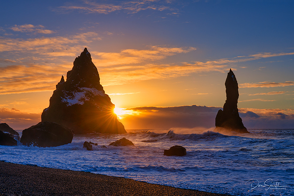 Sunrise at Reynisdrangar, Iceland